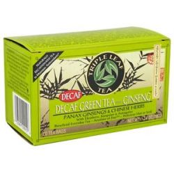 Triple Leaf Tea Decaf Green Tea with Ginseng Chinese Herbs 20 Tea Bags