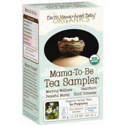 Earth Mama Angel Baby Mama to Be Tea Sampler Caffeine Free 16 Tea Bags