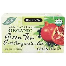 Bigelow Tea All Natural Organic Green Tea with Pomegranate Acai 20 Tea