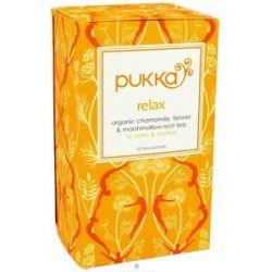 Pukka Herbs Organic Chamomile Fennel Marshmallow Root Tea Relax 20 Tea
