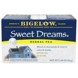 Bigelow Tea Herb Tea All Natural Caffeine Free Sweet Dreams 20 Tea Bags