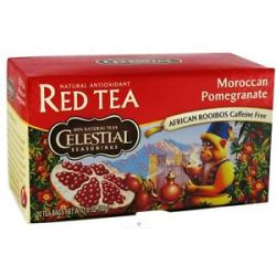 Celestial Seasonings Moroccan Pomegranate Red Caffeine Free 20 Tea Bags