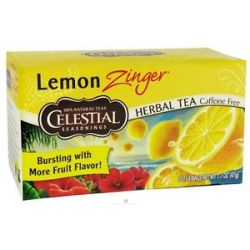 Celestial Seasonings Lemon Zinger Herb Tea Caffeine Free 20 Tea Bags