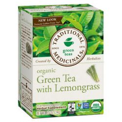 Traditional Medicinals Organic Green Tea with Lemongrass 16 Tea Bags