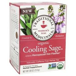 Traditional Medicinals Organic Cooling Sage Women's Tea 16 Tea Bags