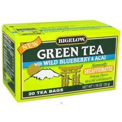 Bigelow Tea Green Tea Decaffeinated with Blueberry Acai 20 Tea Bags