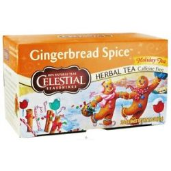 Celestial Seasonings Gingerbread Spice Holiday Herb Tea Caffeine Free 20 Tea