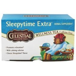 Celestial Seasonings Sleepytime Extra Wellness Tea Caffeine Free 20 Tea Bags