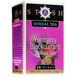Stash Tea Premium Caffeine Free Herbal Tea Yumberry Blackcurrant 20 Tea Bags
