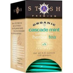 Stash Tea Premium Organic Cascade Mint Caffeine Free Herbal Tea 18 Tea Bags