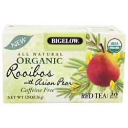 Bigelow Tea All Natural Organic Red Tea Rooibos with Asian Pear 20 Tea Bags