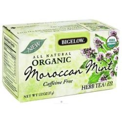 Bigelow Tea All Natural Organic Herb Tea Caffeine Free Moroccan Mint 20 Tea
