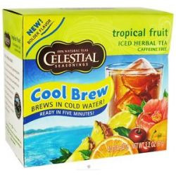 Celestial Seasonings Cool Brew Tropical Fruit Iced Herbal Tea Caffeine Free