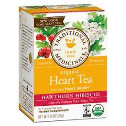 Traditional Medicinals - Organic Heart Tea Caffeine Free Hawthorn Hibiscus - 16