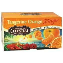 Celestial Seasonings Tangerine Orange Zinger Herb Tea Caffeine Free 20 Tea