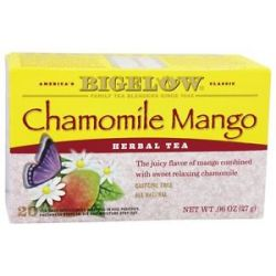 Bigelow Tea Herb Tea All Natural Caffeine Free Chamomile Mango 20 Tea Bags