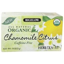 Bigelow Tea All Natural Organic Herb Tea Caffeine Free Chamomile Citrus 20