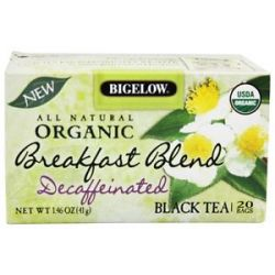 Bigelow Tea All Natural Organic Black Tea Decaffeinated Breakfast Blend 20