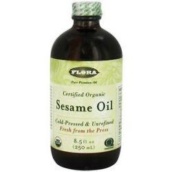 Flora Sesame Oil Certified Organic 8 5 Oz