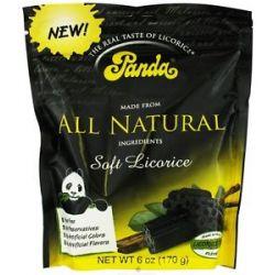 Panda Licorice Soft Chews Black 6 Oz