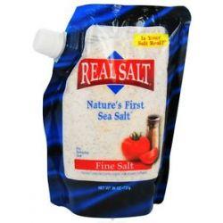 Real Salt Nature's First Sea Salt Fine Salt 26 Oz