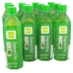 Alo Original Aloe Drink Awaken Aloe Wheatgrass 16 9 Oz