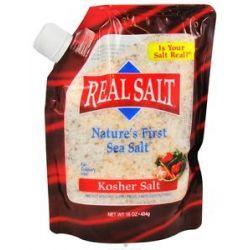 Real Salt Nature's First Sea Salt Kosher Salt 16 Oz