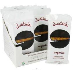 Justin's Nut Butter Peanut Butter Cups Dark Chocolate 1 4 Oz