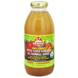 Bragg Organic Apple Cider Vinegar All Natural Drink Apple Cinnamon 16 Oz