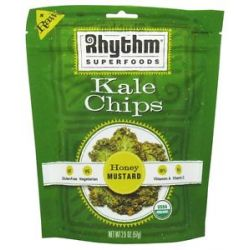 Rhythm Superfoods Organic Kale Chips Raw Honey Mustard 2 Oz
