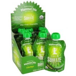 Mamma Chia Organic Chia Squeeze Vitality Snack Green Magic 1200 MG 3 5 Oz