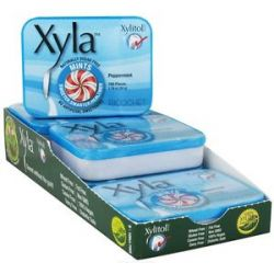 Xylitol USA Xyla Naturally Sugar Free Mints Peppermint 100 Piece S