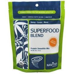 Navitas Naturals Superfood Blend Protein Smoothie Mix Certified Organic 8 Oz