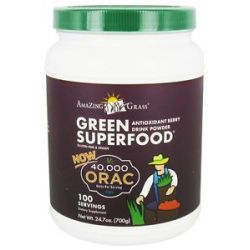 Amazing Grass Green Superfood Drink Powder 100 Servings Antioxidant Berry 24