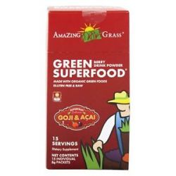 Amazing Grass Green Superfood Drink Powder Packets Berry Flavor 15 Packet S
