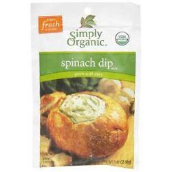 Simply Organic Spinach DIP Mix 1 41 Oz