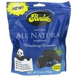 Panda Licorice Soft Chews Blueberry 6 Oz