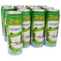 Zola 100 Natural Coconut Water Original 17 5 Oz