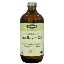 Flora Sunflower Oil Certified Organic 17 Oz