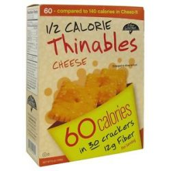 Fiber Gourmet Thinables Crackers Cheese 6 Oz