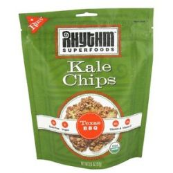 Rhythm Superfoods Organic Kale Chips Raw Texas BBQ 2 Oz