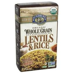 Lundberg Organic Whole Grain Lentils Rice Mild Curry 6 Oz