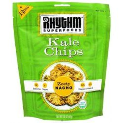 Rhythm Superfoods Organic Kale Chips Raw Zesty Nacho 2 Oz