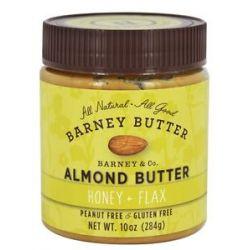 Barney Butter All Natural Almond Butter Honey Flax 10 Oz