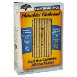 Fiber Gourmet Thinables Flatbread Everything Flavor 6 Oz