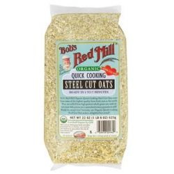 Bob's Red Mill Organic Quick Cooking Steel Cut Oats 22 Oz