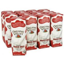 Organic Valley Organic Whole Milk 12 x 8 oz Cartons