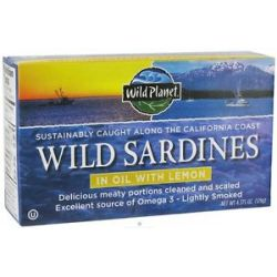 Wild Planet Wild Sardines in Oil with Lemon 4 38 Oz