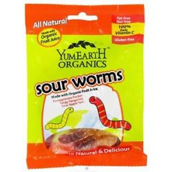 Yummy Earth Organic Gluten Free Gummy Worms 2 5 Oz