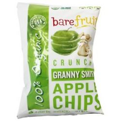 Bare Fruit 100 Organic Bake Dried Granny Smith Apple Chips 2 2 Oz